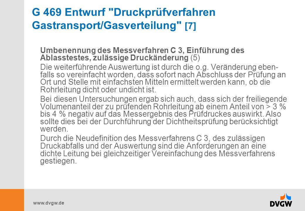 G 469 Entwurf Druckprüfverfahren Gastransport/Gasverteilung [7]